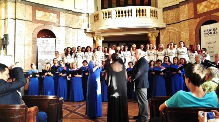 Η Δημοτική Χορωδία της Κερατέας στην συνάντηση Χορωδιών στο Πανεπιστήμιο «St. Kliment Ohridski» στην Σόφια.